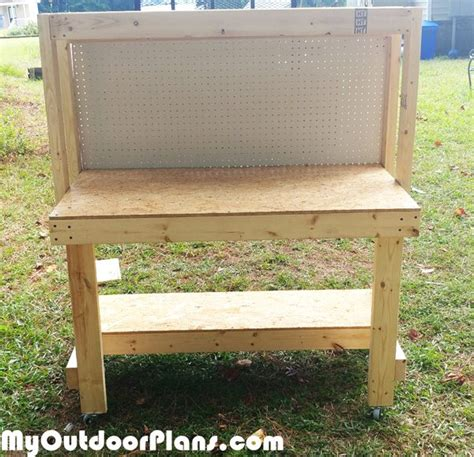 diy workbench  pegboard myoutdoorplans