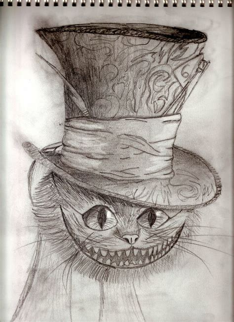 drawn cheshire cat steampunk pencil   color drawn