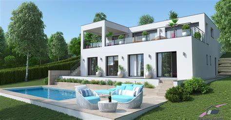 maison toiture terrasse sur terrain tr 232 s pentu maisons