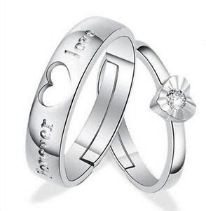 1pair silver rings and his promise ring 6938941745381