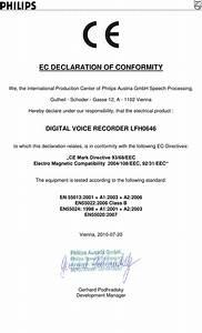 Philips Lfh0646  00 Ec Declaration Of Conformity User