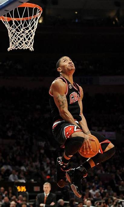 Derrick Rose Dunks Knicks Basketball Bulls Rondo