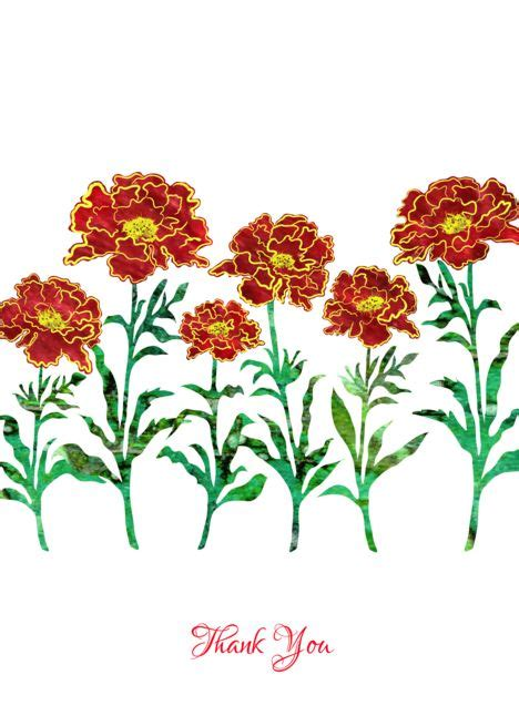 business    red stylized marigold flowers