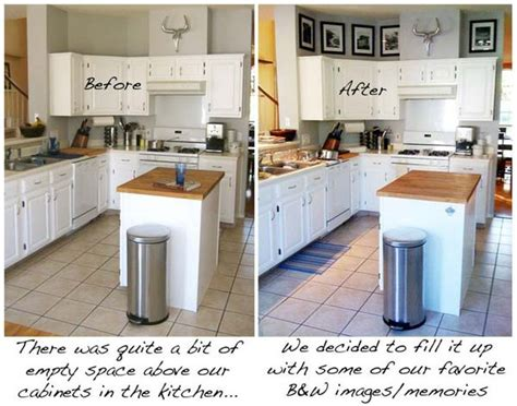 20 Stylish And Budget-friendly Ways To Decorate Above White Kitchen Cabinets With Dark Hardwood Floors Floor Patterns Hgtv What Color Is Best For Backsplash Metal Country Paint Colors Kitchens Laminate Flooring And Bathrooms