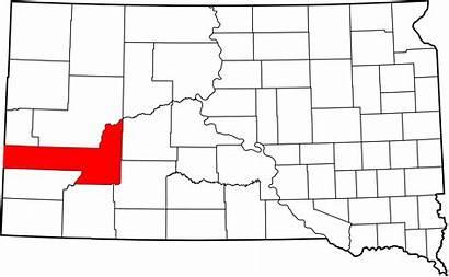 Pennington County Map Dakota South Svg Highlighting