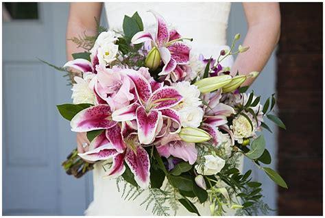 lily bouquet summer wedding floral sam  nate