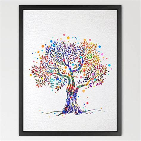 poster chambre fille dignovel studios imprimé arbre nature aquarelle