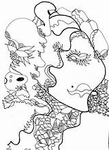 Gypsy Coloring Branding sketch template