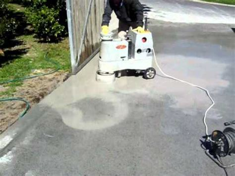 Polishing a Grano concrete Driveway   YouTube