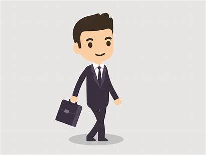 Walking Business Cartoons Animated Person Office Gifs