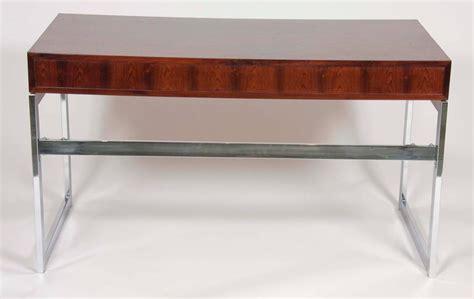 milo baughman rosewood desk sleek rosewood and chrome desk by milo baughman for sale