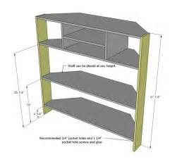 tall corner media console corner tv tv stand plans