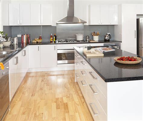Black Granite Bench Tops black granite kitchen benchtop kaboodle kitchen