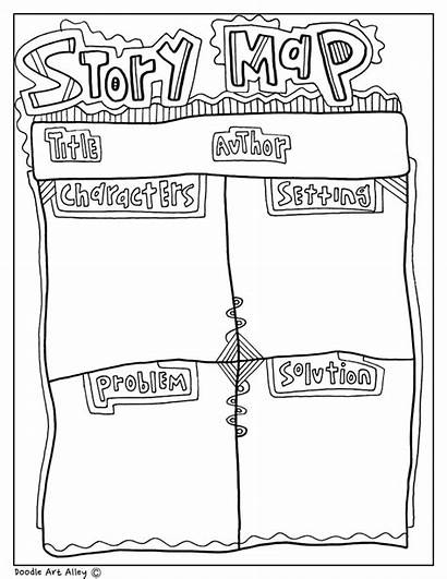 Graphic Classroom Doodles Organizers Doodle Printable Story