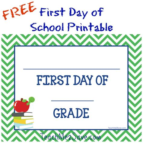 Free First Day Of School Printable  Funtastic Life
