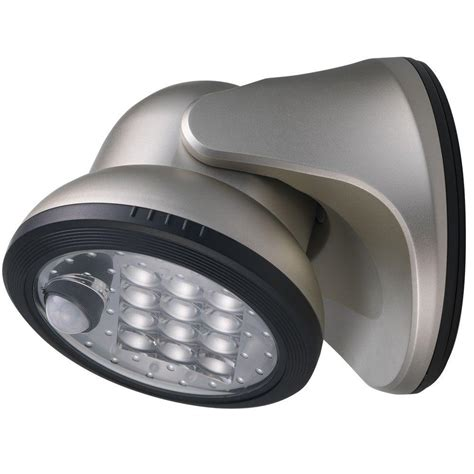 motion activated porch light light it silver 12 led wireless motion activated