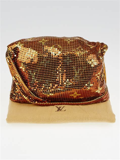 louis vuitton limited edition bronze monogram mesh frances