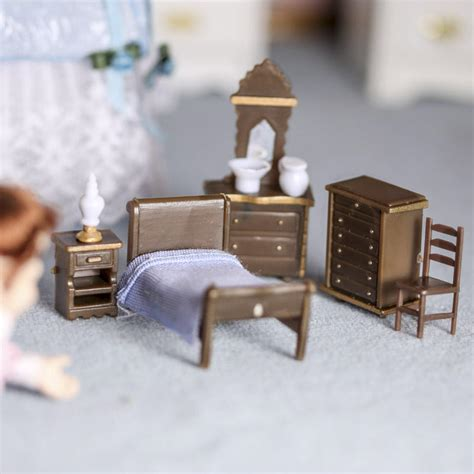 micro mini bedroom furniture set miniature furniture