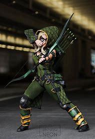 Female Green Arrow Cosplay Costume
