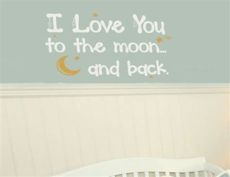 I Love You To The Moon And Back Vinyl Wall Decal
