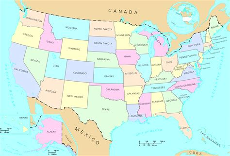 us map state map
