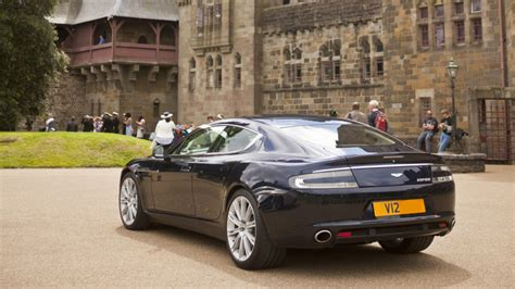 Midnight Blue Aston Martin Wedding Car In Cardiff, South Wales