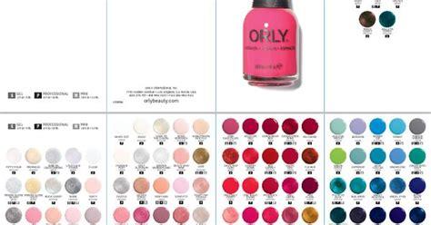 Orly Nail Polish Colour Chart