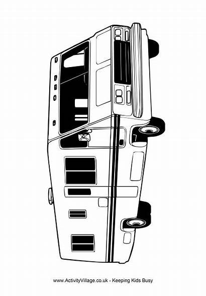 Camper Van Colouring Pages Camping Transport Topics