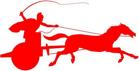 Roman Chariot Silhouette