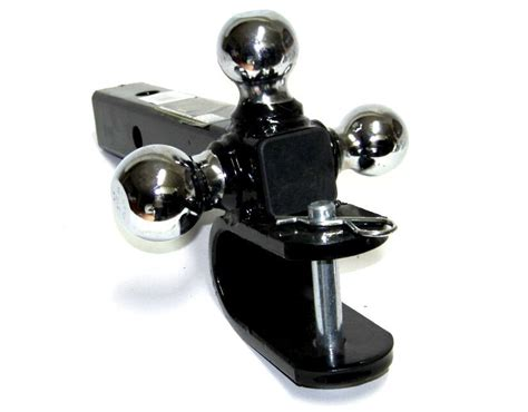 Triple Trailer Hitch Ball And U Type Mounting Pull Hitch