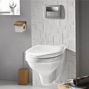 deco wc design avec une cuvette wc suspendu With exceptional idee couleur peinture toilette 0 deco toilettes colore
