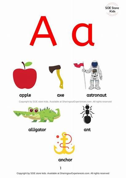 Letter Start Things Words Sound Preschool Short