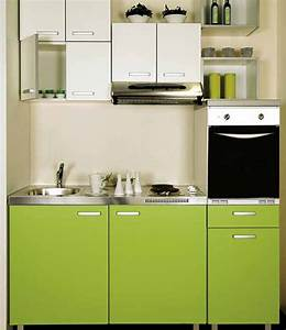 modern green colours small kitchen interior design ideas With small house kitchen interior design