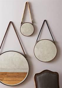 Miroir Rond Suspendu : comment faire soi m me un miroir suspendu d co ~ Teatrodelosmanantiales.com Idées de Décoration