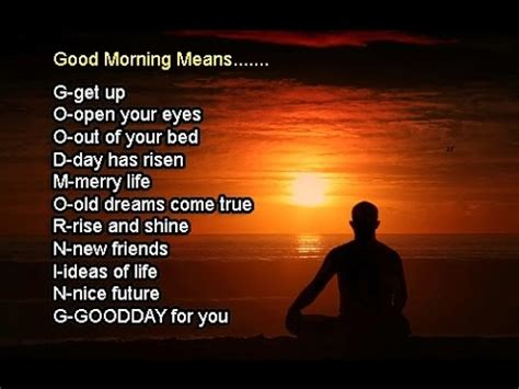 good morning meaning graphic   meant  good