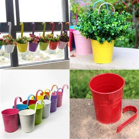 pot a suspendre fleur 10pcs pots de fleurs en fer 224 suspendre pour balcon jardin avec crochet amovible achat vente