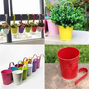 Plantes Et Fleurs Pour Balcon : 10pcs pots de fleurs en fer suspendre pour balcon jardin ~ Premium-room.com Idées de Décoration