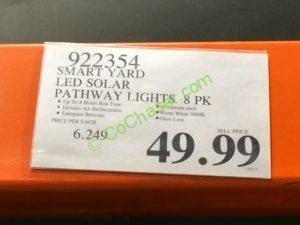 costco 922354 smart yard led solar pathway lights tag costcochaser