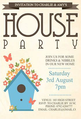 house template for photo card quot house quot printable invitation customize add text
