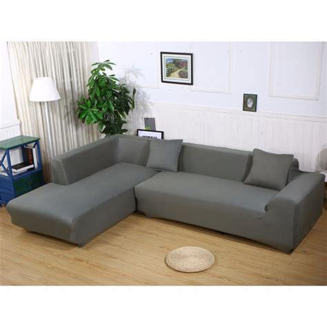 L Shape Stretch Elastic Fabric Sofa Cover Sectional