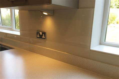 Cotton Cupboard by Toughened Glass Kitchen Cupboard In Dulux