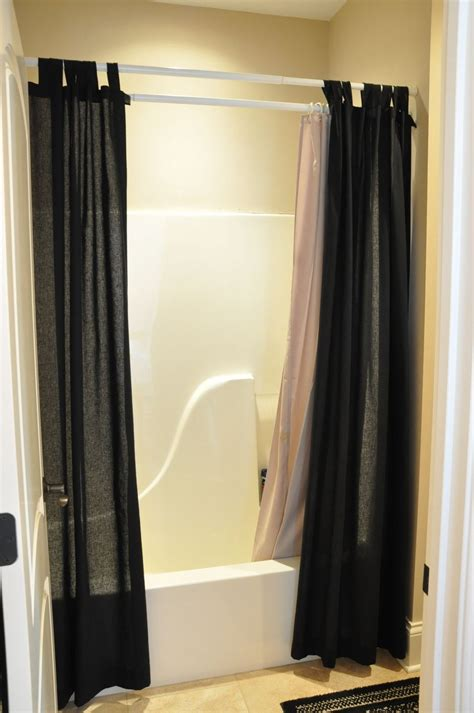 gorgeous black shower curtain design ideas for simply