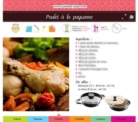 fiches cuisine fiche recette viande poulet à la paysanne version pdf