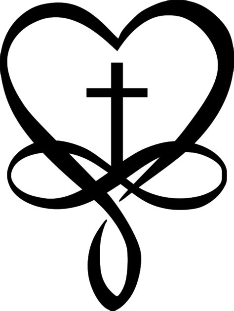 heart cross and infinity symbols jh | svg | Tattoos, Body art tattoos, Cute tattoos