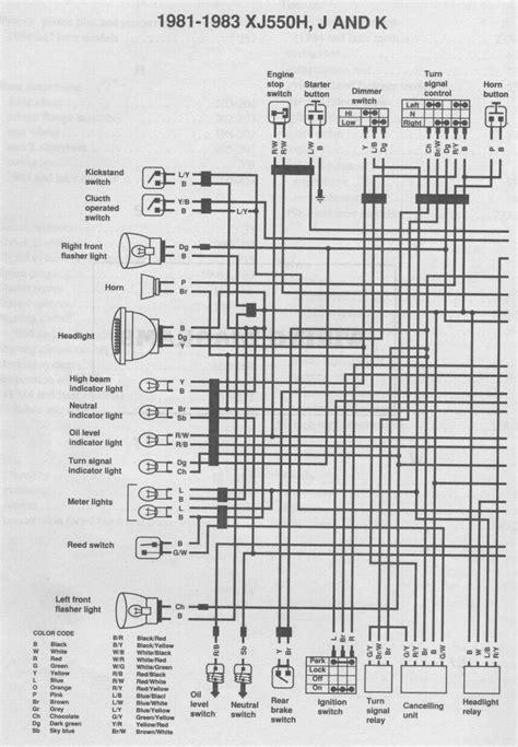 1982 yamaha xj550 maxim wiring question