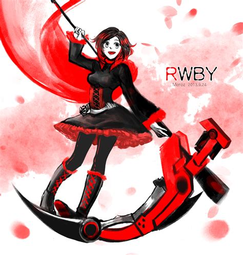 ruby rose rwby fanart rwby ruby rose by mengluoli on deviantart