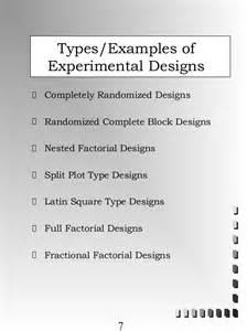 split level designs experimental design