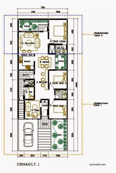 rumah minimalis sederhana  lantai  kamar tidur jpg