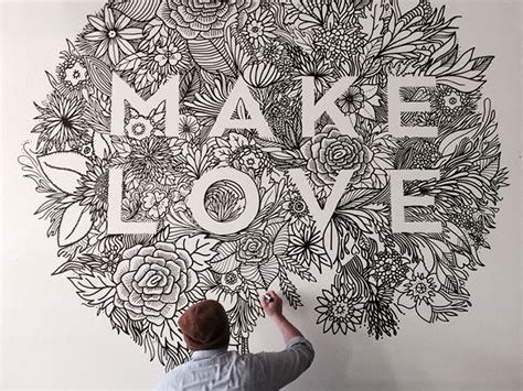 inspiring typography wall mural designs web graphic
