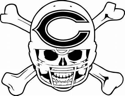 Steelers Coloring Pittsburgh Skull Helmet Football Chicago